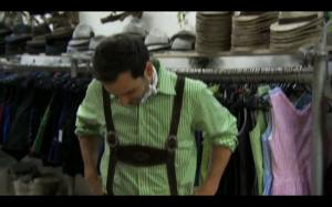 Chris in lederhosen
