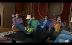 Guys in their hoodies