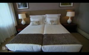beds pushed together