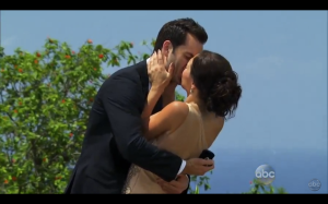 Chris and Des kissing