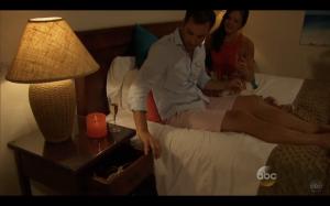 Chris reaching into drawer