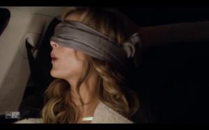 Clare blindfolded 3